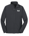 Mens Battleship Grey Soft Shell Jacket with BAI logo