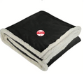 Field & Co. Cambridge Oversized Sherpa Blanket, black w/10-2-4 logo