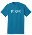 Hi Viz neon blue t-shirt with Deja Blue logo