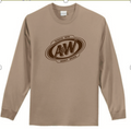 Long Sleeve Sand t-shirt with A&W logo