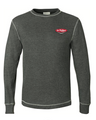 J America  L/S Thermal Shirt, charcoal w/Drink Dr Pepper