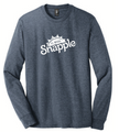 Heather Navy L/S Tee with Snapple