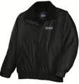 Black Competitor Jacket with Deja Blue Logo
