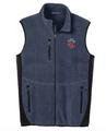 Navy Heather Pro Fleece Full-Zip Vest