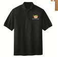 Silk Touch Black Polo with Canada Dry logo