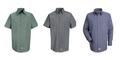 Micro Check Driver Shirt, Short Sleeve