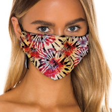 Prince Peter Pastels Floral Tie Dye Protective Mask
