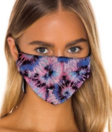 Prince Peter Lavender Floral Tie Dye Protective Mask