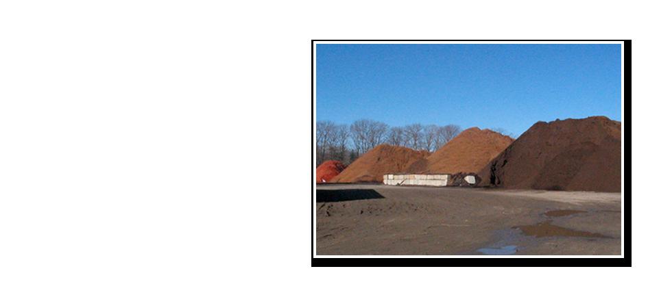 Photos of bark mulch piles.