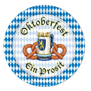 "Oktoberfest Beer and Pretzel Plate 9"" (8/pkg)"
