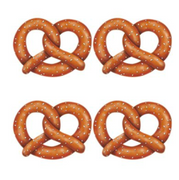 Oktoberfest Pretzels Decoration 11 in. printed on 2 sides 4 per pkg