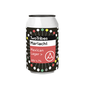 Two Tribes Mariachi Mexican Lager (24 x 330ml Cans) BBD BB:25/08/2021