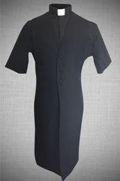 Men's Long Clergy Vest - Black