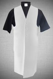 Men's Long Clergy Vest - White