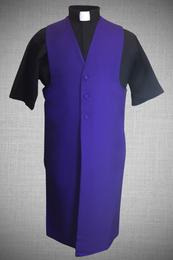 Men's Long Clergy Robe Vest - Purple