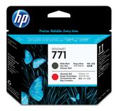 Hewlett Packard-Hp 771 Matte Black & Chromatic Red Designjet Printhead SKU CE017A