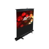 Elite Screens-84 Portable 169 Pull-up Projector Screen Floor Pull Up Swivel Legs Ezcinema SKU F84NWH