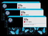 Hp-Hp 771b 775ml Chromatic Red Designjet Ink Cartridge 3-pack - Z6200/z6800 SKU B6Y24A