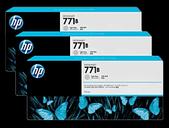 Hp-Hp 771b 775ml Light Gray Designjet Ink Cartridge 3-pack - Z6200/z6800/z6810 SKU B6Y30A