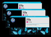 Hp-Hp 771b 775ml Magenta Designjet Ink Cartridge 3-pack - Z6200/z6800/z6810 SKU B6Y25A