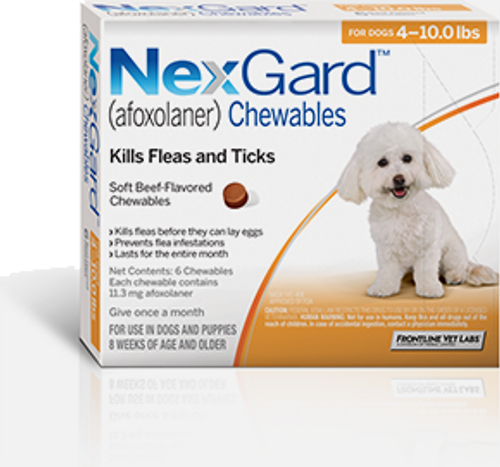 Nexgard for Dogs 4-10 lbs - 6 Pack