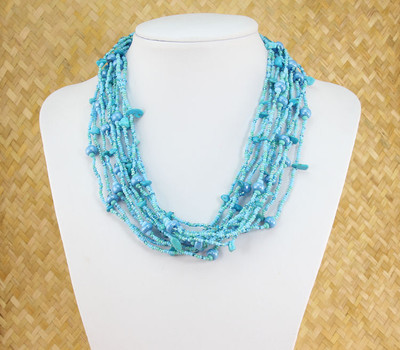 Turquoise strand necklace.
