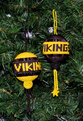 Minnesota Viking Christmas Ornamen