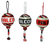 Atlanta Falcons in three different color combinations.