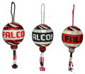 Atlanta Falcons in three different color combinations.