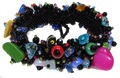 Beautiful Black Multi Color Magnetic clasp Bracelet Handcrafted