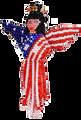 USA Angel Key Chain