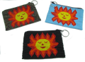 Different colored sun coin purses.