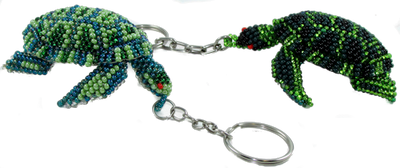 These are about twice as large and twice the detail as the turtle key chain.