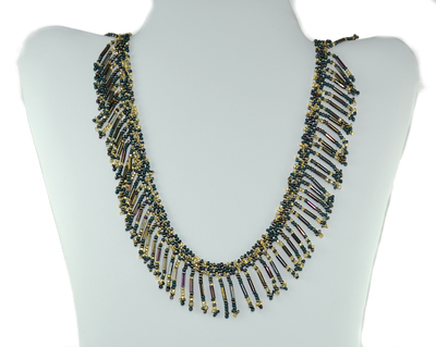 A beautiful fringed necklace that is amazing for the price!