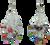 White multi-colored set. BER-79