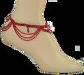 Crystal & Loop Anklet