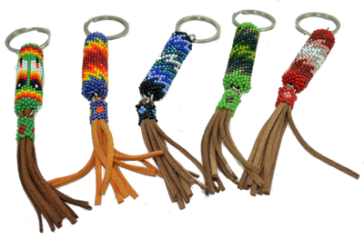 A new design with nice colors and leather tassels.