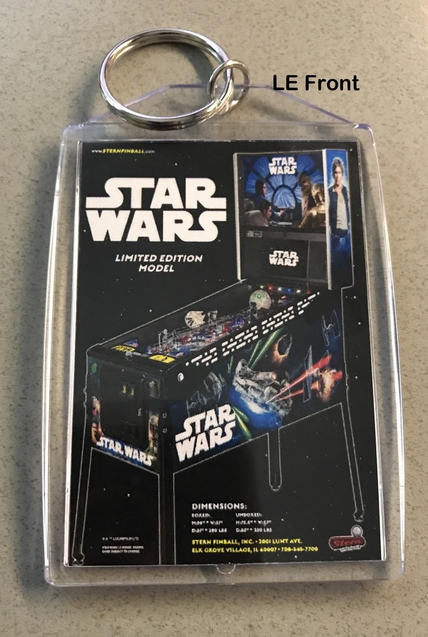 Star Wars Pinball Machine >> Stern Star Wars Pinball Machine Key Chain Flyer