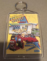 Sega Turbo Out Run  Key Chain Flyer (Japan)