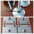 "Set of 4 ~  2"" Leg Levelers &  Mounting Plates"