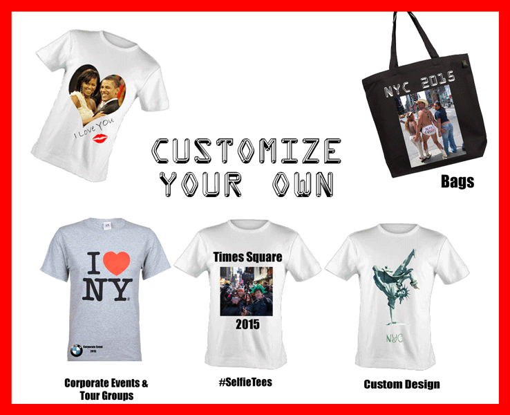 Custom T-Shirts and Personalized Items - No Minimum - 10036 NYC