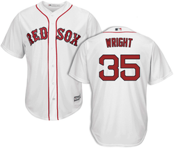 Steven Wright Jersey - Boston Red Sox Replica Adult Home Jersey Photo