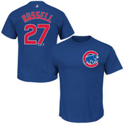 Addison Russell T-Shirt - Blue Chicago Cubs Adult T-Shirt