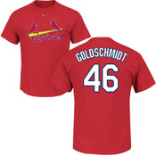 Paul Goldschmidt T-Shirt - Red St Louis Cardinals Adult T-Shirt