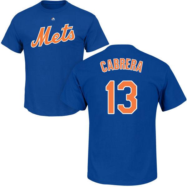 new product cf677 079f4 Asdrubal Cabrera T-Shirt - Blue NY Mets Adult T-Shirt
