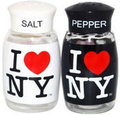 I Love NY Salt & Pepper Shakers- Black/White