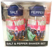 NYC Pink Diamond Letters Collage Salt & Pepper Shakers