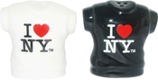 Black & White I Love NY T-shirt Salt & Pepper Shakers