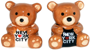 NYC Teddy Bear Salt & Pepper Shakers