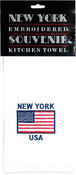 NY American Flag Embroidered Kitchen Towel